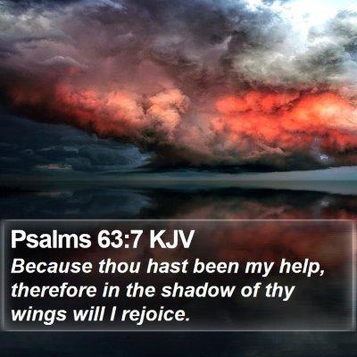 Psalms 63:7 KJV Bible Verse Image