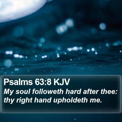 Psalms 63:8 KJV Bible Verse Image