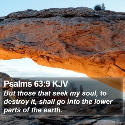 Psalms 63:9 KJV Bible Verse Image