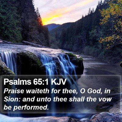 Psalms 65:1 KJV Bible Verse Image