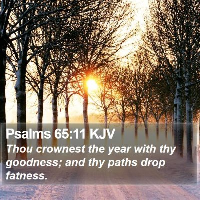 Psalms 65:11 KJV Bible Verse Image
