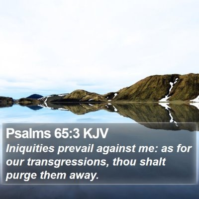 Psalms 65:3 KJV Bible Verse Image
