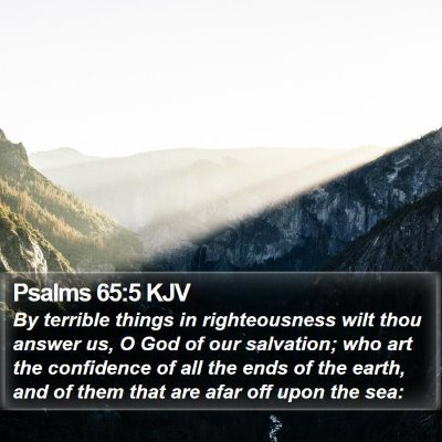 Psalms 65:5 KJV Bible Verse Image