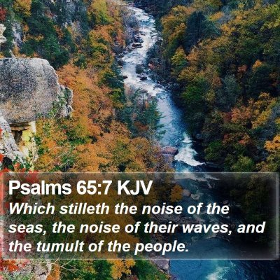 Psalms 65:7 KJV Bible Verse Image