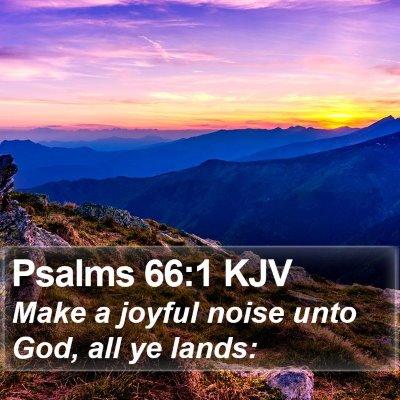 Psalms 66:1 KJV Bible Verse Image