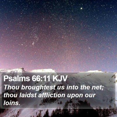 Psalms 66:11 KJV Bible Verse Image