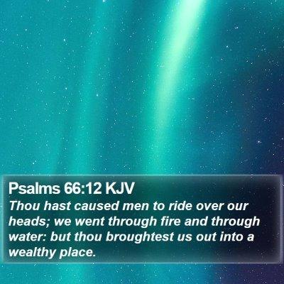 Psalms 66:12 KJV Bible Verse Image