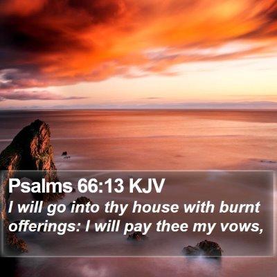 Psalms 66:13 KJV Bible Verse Image