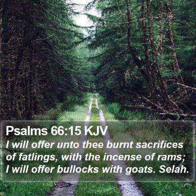 Psalms 66:15 KJV Bible Verse Image