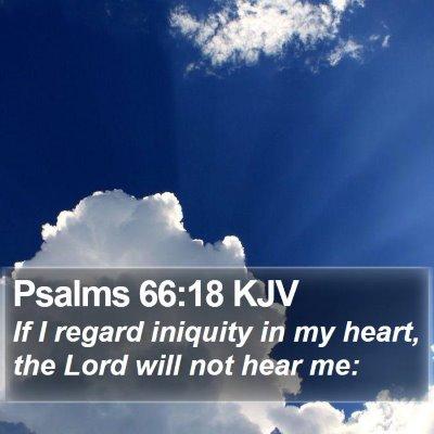 Psalms 66:18 KJV Bible Verse Image