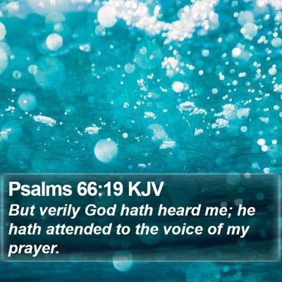 Psalms 66:19 KJV Bible Verse Image