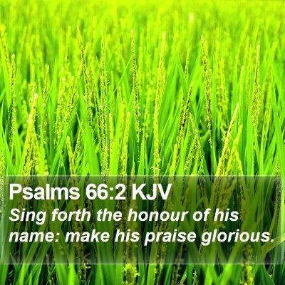 Psalms 66:2 KJV Bible Verse Image