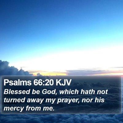 Psalms 66:20 KJV Bible Verse Image