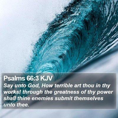 Psalms 66:3 KJV Bible Verse Image