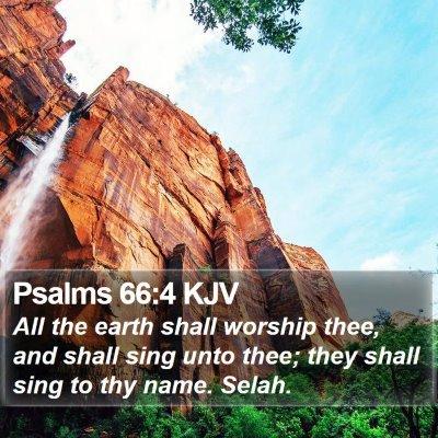 Psalms 66:4 KJV Bible Verse Image