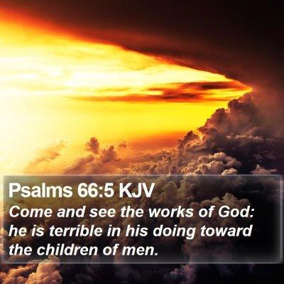 Psalms 66:5 KJV Bible Verse Image