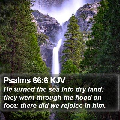 Psalms 66:6 KJV Bible Verse Image
