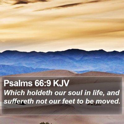 Psalms 66:9 KJV Bible Verse Image