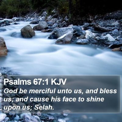 Psalms 67:1 KJV Bible Verse Image