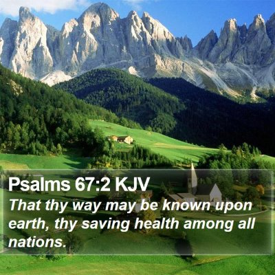 Psalms 67:2 KJV Bible Verse Image