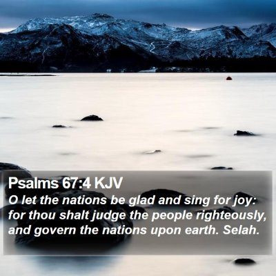 Psalms 67:4 KJV Bible Verse Image