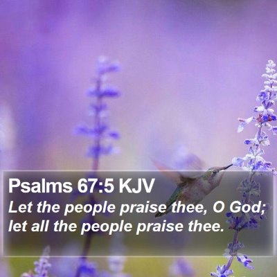 Psalms 67:5 KJV Bible Verse Image