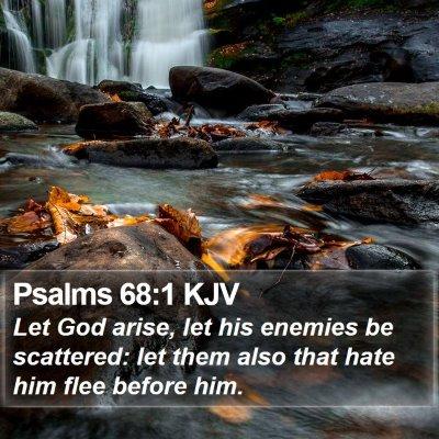 Psalms 68:1 KJV Bible Verse Image