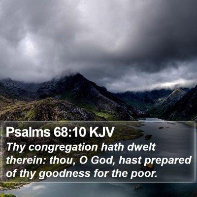 Psalms 68:10 KJV Bible Verse Image