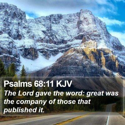 Psalms 68:11 KJV Bible Verse Image
