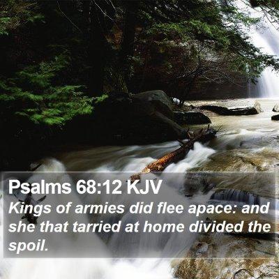 Psalms 68:12 KJV Bible Verse Image