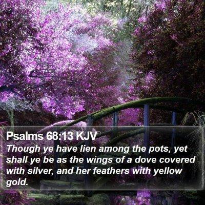 Psalms 68:13 KJV Bible Verse Image