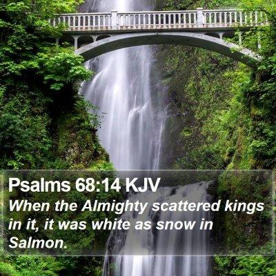 Psalms 68:14 KJV Bible Verse Image