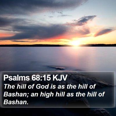 Psalms 68:15 KJV Bible Verse Image