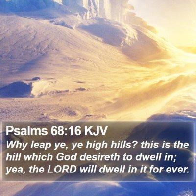 Psalms 68:16 KJV Bible Verse Image
