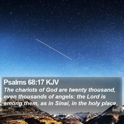 Psalms 68:17 KJV Bible Verse Image