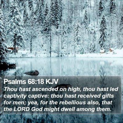 Psalms 68:18 KJV Bible Verse Image