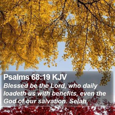 Psalms 68:19 KJV Bible Verse Image