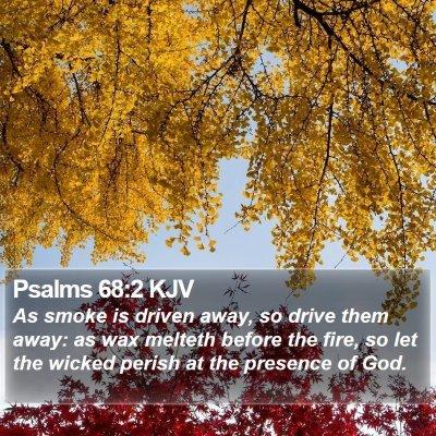 Psalms 68:2 KJV Bible Verse Image