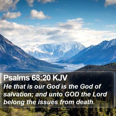 Psalms 68:20 KJV Bible Verse Image