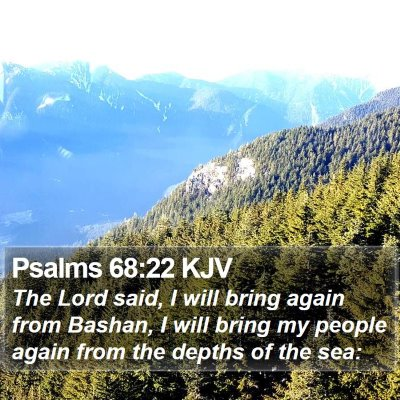 Psalms 68:22 KJV Bible Verse Image