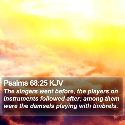 Psalms 68:25 KJV Bible Verse Image