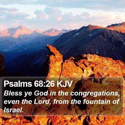 Psalms 68:26 KJV Bible Verse Image