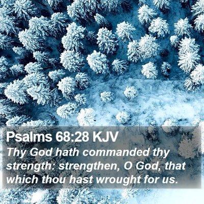 Psalms 68:28 KJV Bible Verse Image