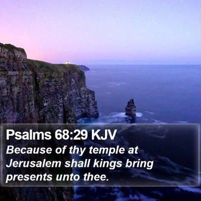 Psalms 68:29 KJV Bible Verse Image
