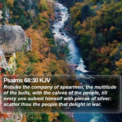Psalms 68:30 KJV Bible Verse Image