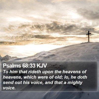 Psalms 68:33 KJV Bible Verse Image
