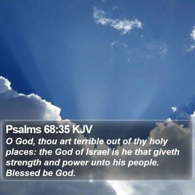 Psalms 68:35 KJV Bible Verse Image