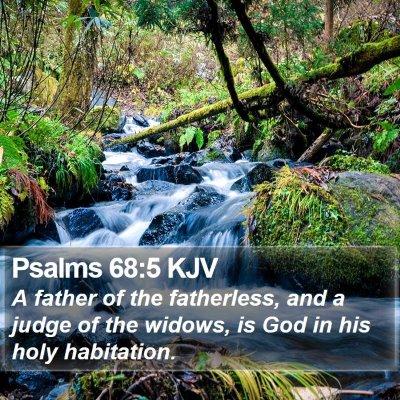 Psalms 68:5 KJV Bible Verse Image