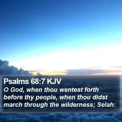 Psalms 68:7 KJV Bible Verse Image