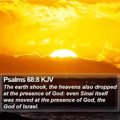 Psalms 68:8 KJV Bible Verse Image